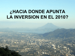 LA INVERSION EN EL 2010