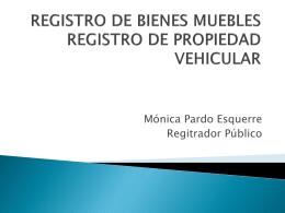 REGISTRO DE BIENES MUEBLES REGISTRO DE …