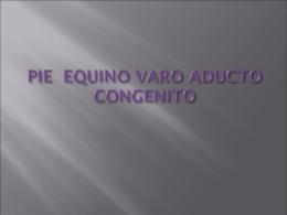PIE EQUINO VARO ADUCTO CONGENITO