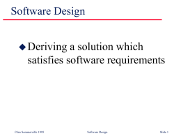 Software Design - DIT School of Computing