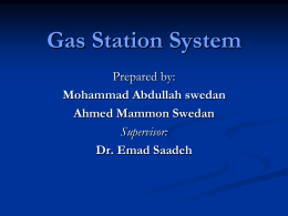 Gas Station System - An-Najah National University