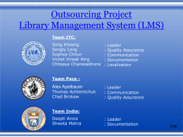 Outsourcing Project Library Management System