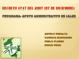 Decreto 4747 del 2007 (07 de diciembre)