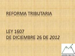 REFORMA TRIBUTARIA LEY 1430 DE DICIEMBRE 29 DE 2010