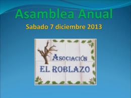Asamblea Anual Sabado 7 diciembre 2013