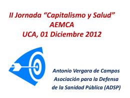 "II Jornada ""Capitalismo y Salud"" AEMCA UCA, 01 …"