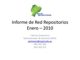 Informe de Red Repositorios Diciembre – 2009