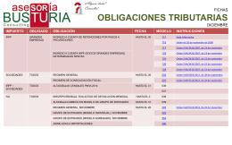 Obligaciones Tributarias Diciembre