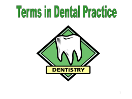 Terms in Dental Practice - UtechDMD2015