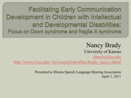 Facilitating Early Communication Development in Children