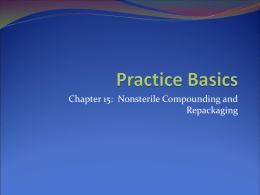 Practice Basics - American Society of Health System