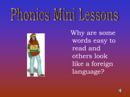 Phonics Mini Lessons - Nebo School District