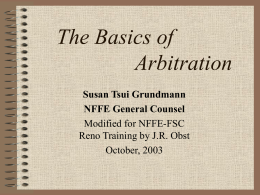 The Basics of Arbitration - NFFE Forest Service Council