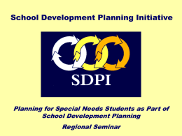 planning for special needs students (powerpoint …
