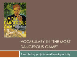 "Vocabulary in ""The Most Dangerous Game"""