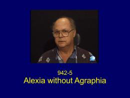 Alexia Without Agraphia (novel.utah.edu)