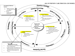 The Nutrition Care Process: Diagnosis, Intervention