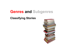 Genre and Subgenre - Ereading Worksheets