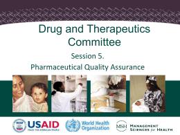 Drug Quality Assurance
