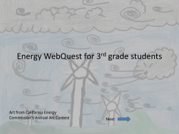 Energy WebQuest for 3rd grade students