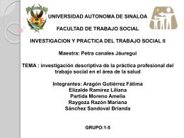 UNIVERSIDAD AUTONOMA DE SINALOA FACULTAD DE …
