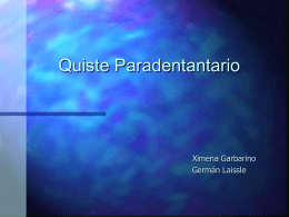 Quiste Paradental