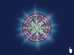 Who Wants To Be A Millionaire? PowerPoint Template