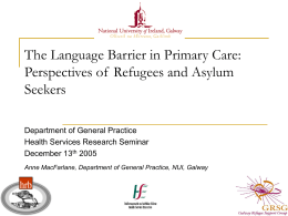 The Language Barrier in Primary Care: Perspectives of