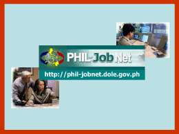 Phil-JobNet - Bureau of Local Employment