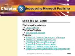 Introducing Microsoft Publisher - McGraw