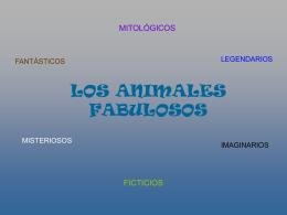 LOS ANIMALES FABULOSOS