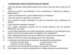 Cuestionario sobre la democracia en Atenas