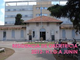 RESIDENCIA DE OBSTETRICIA 2013