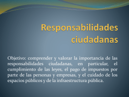 Responsabilidades ciudadanas