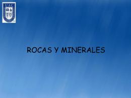 ROCAS Y MINERALES FORMADORES DE ROCAS