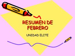 RESUMEN DE FEBRERO