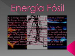 INCONVENIENTES DE LA ENERGIA FOSIL