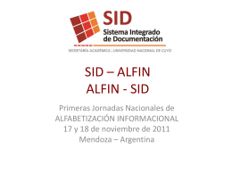 SID - ALFIN