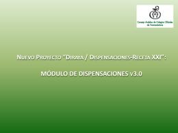 """proyecto """"Diraya / Dispensaciones"""