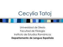 Cecylia Tatoj - Wydział Filologiczny Uniwersytetu