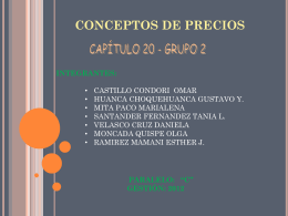 CONCEPTO DE PRECIOS - Blog Docente Carrera Auditoria