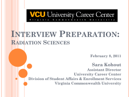 Health Professions Interview Workshop