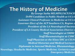 The History of Medicine - Digi-ED