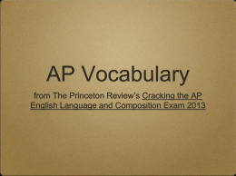 AP Vocabulary