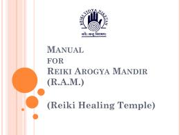 Reiki Arogya Mandir (RAM)