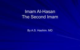 Imam Al-Husain (a.s.):