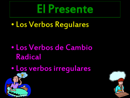 The past tense of –ar verbs