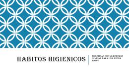 HABITOS HIGIENICOS