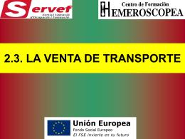 2.3. LA VENTA DE TRANSPORTE