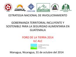 ENI Guatemala ESTRATEGIA NACIONAL: GOBERNANZA …